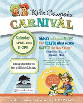 Kids Cowpoke Carnival, Petaluma Parents Nursery School