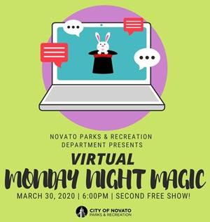Virtual Monday Night Magic, City of Novato
