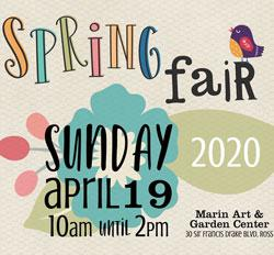 Pixie Park Spring Fair 2020, Marin Art & Garden Center, Ross