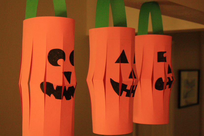Halloween Craft Project Paper Jack O Lanterns Marin Mommies