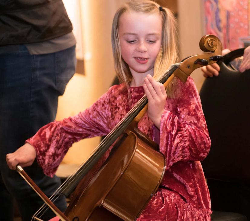 Marin Symphony instrument petting zoo