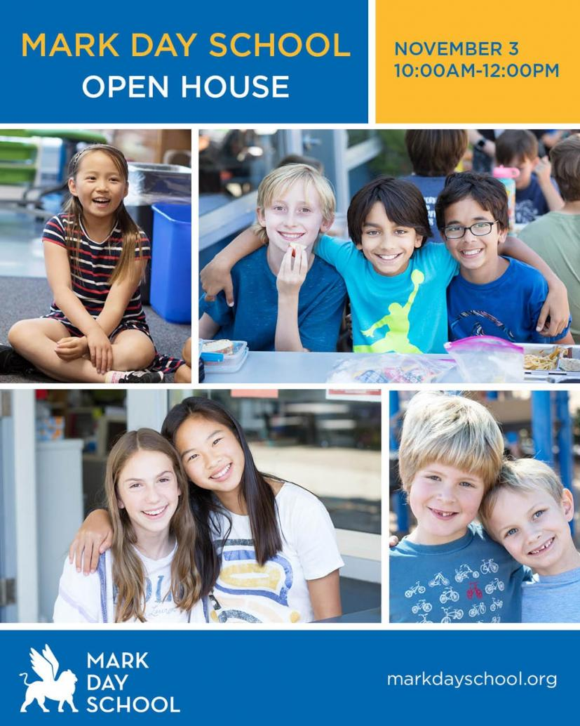 Mark Day School Open House November 3