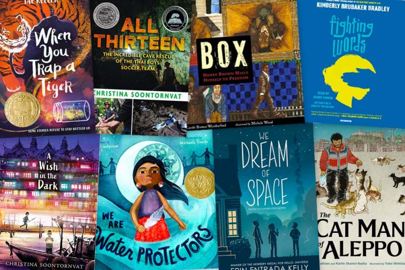 ALA Youth Award winners 2021 collage of book covers