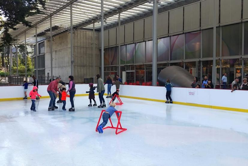 Cal Academy holiday ice rink