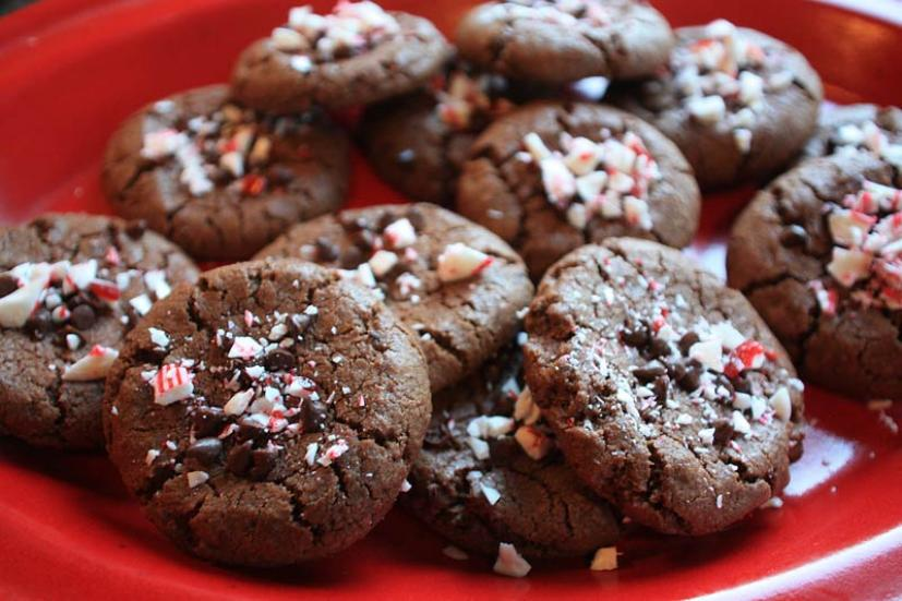Double Chocolate Candy Cane Cookies Marin Mommies