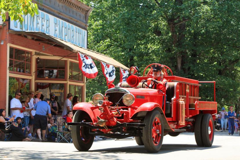 4th of July parade at Columbia State Historic Park