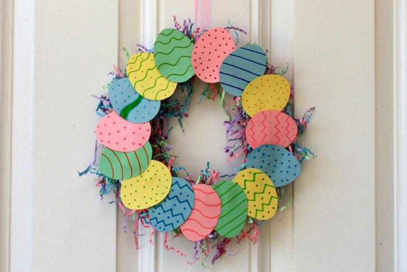 Easter egg wreath craft project