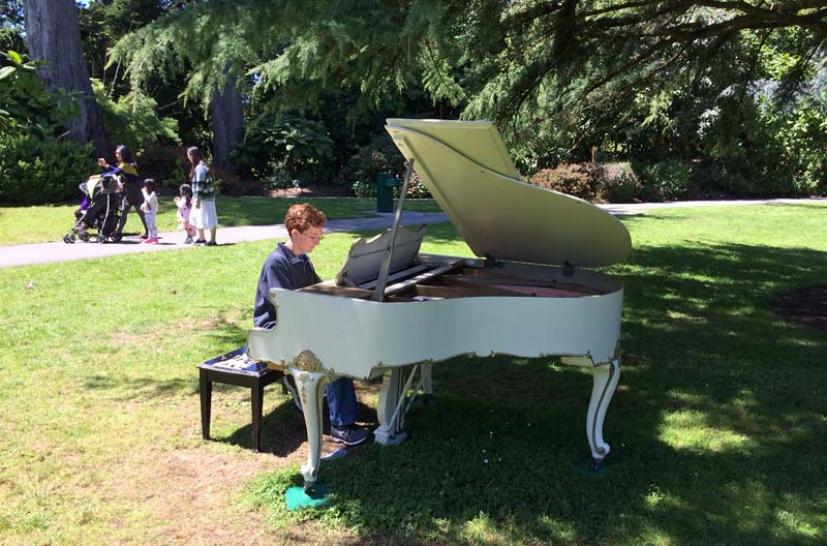 this summer flower piano returns to the san francisco botanical garden in golden gate park from july 5 to 16 now in its fourth year this music filled - San Francisco Botanical Garden