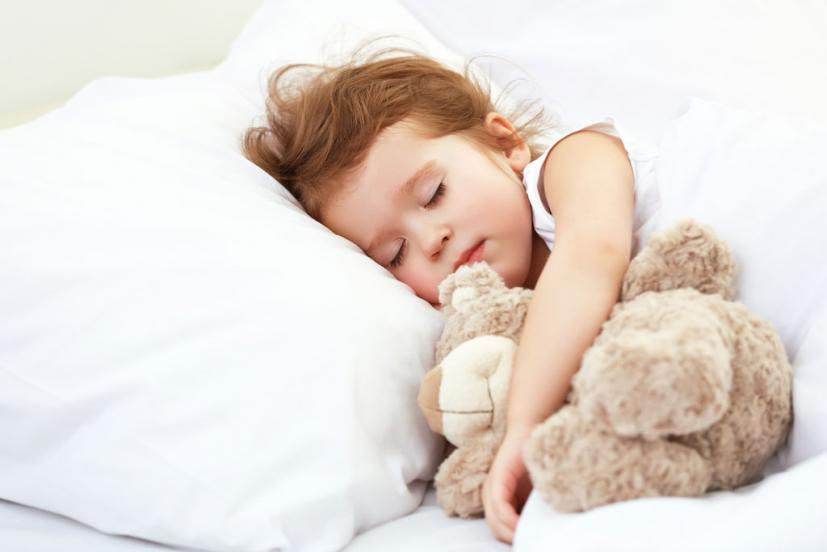 Toddler girl sleeping