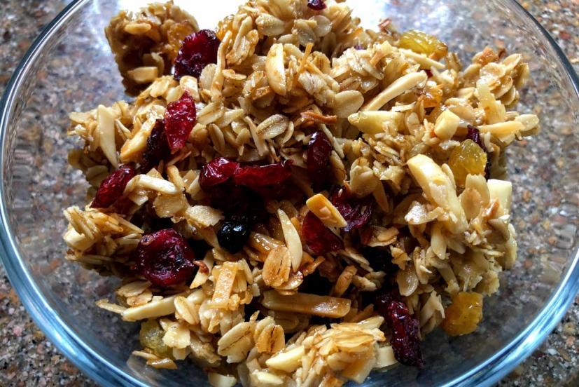 Granola in bowl