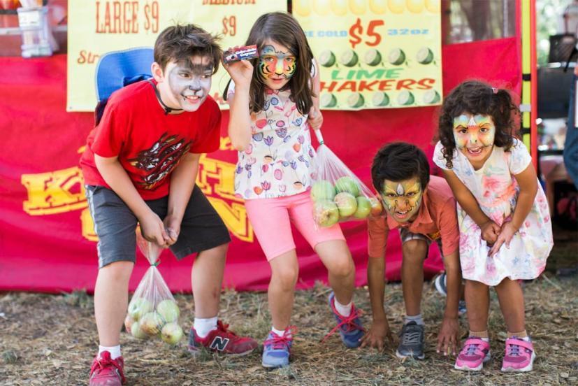 Kids playing at the Gravenstein Apple Fair in Sebastopol