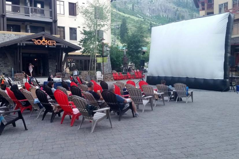 Outdoor summer movies Squaw Valley