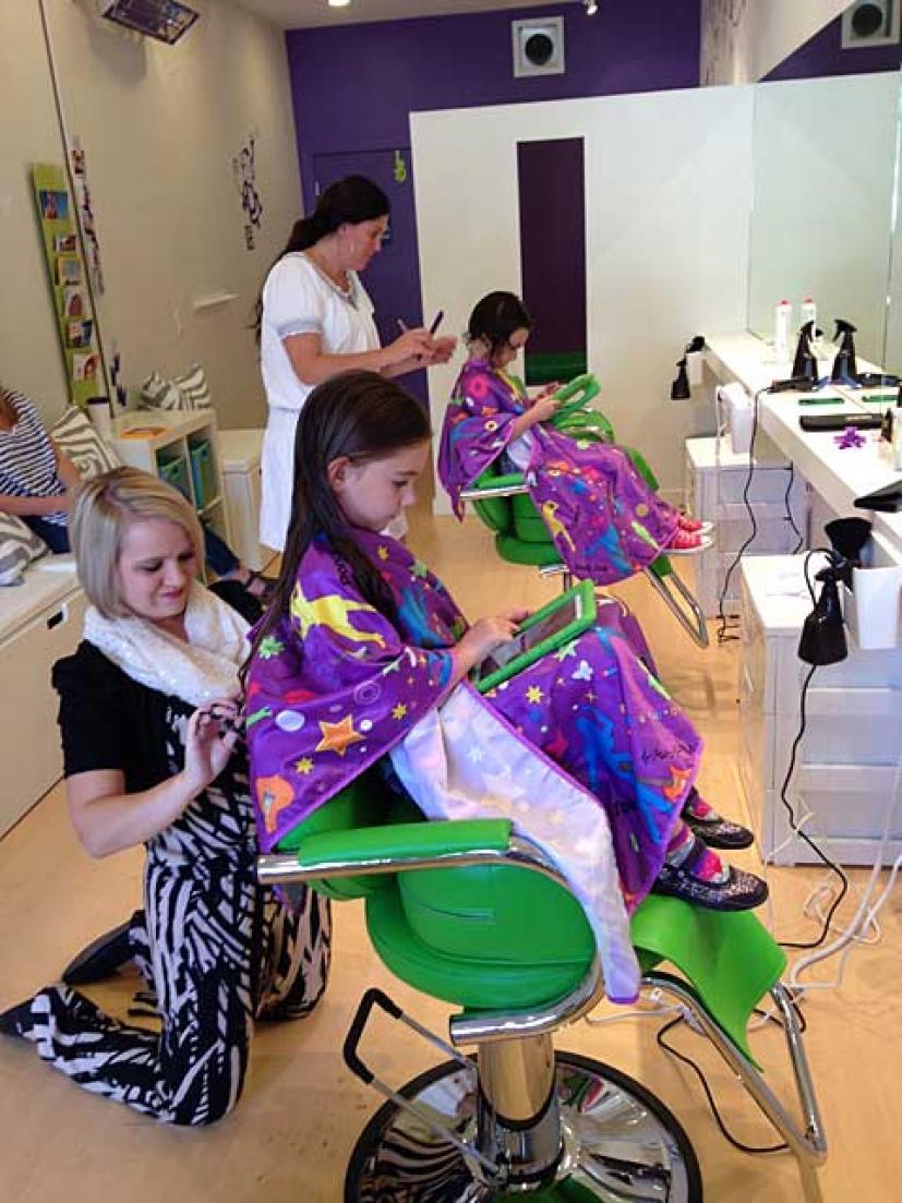 A New Salon For Kids In Marin Purple Monkey Hair In Tiburon Marin