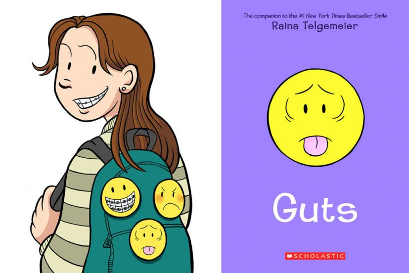 Raina Telgemeier Guts book cover
