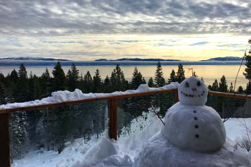 Tahoe snowman