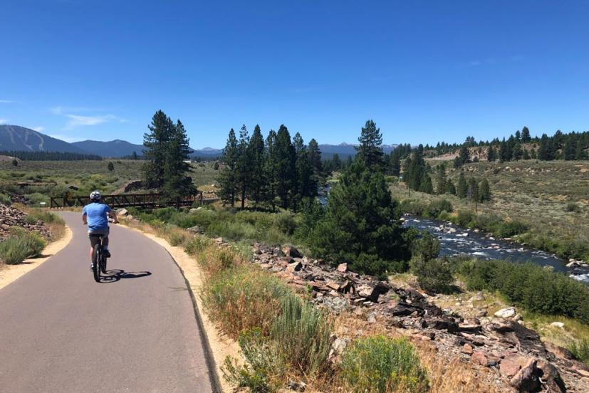 Truckee River Legacy Trail Truckee bike ride