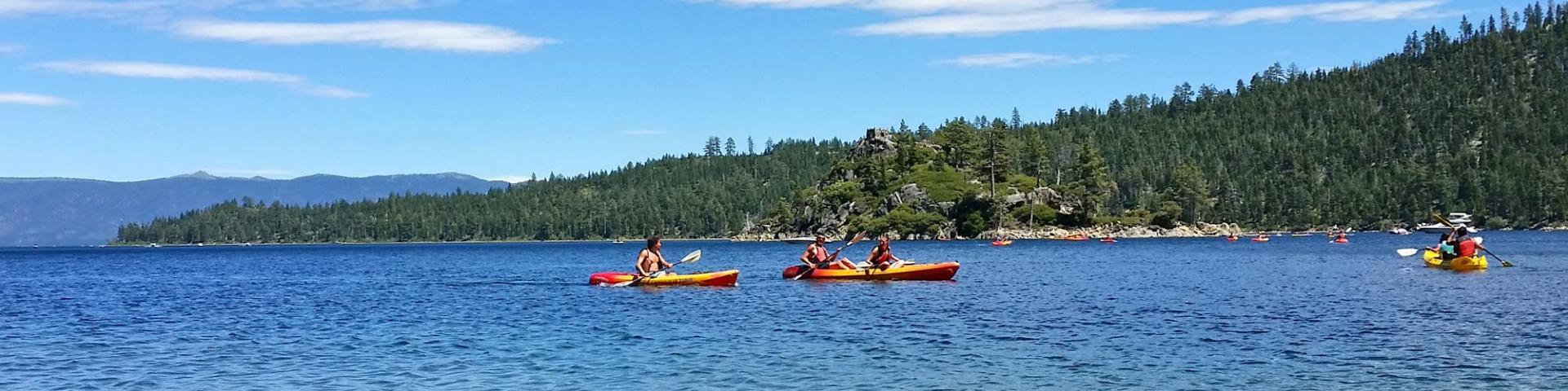 Lake Tahoe summer kayaks Emerald Bay