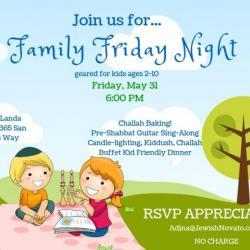 Family Fun Night at Chabad Jewish Center Novato