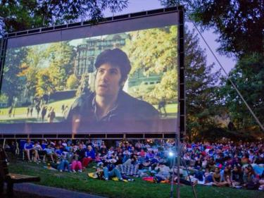 Outdoor movies in the park Marin
