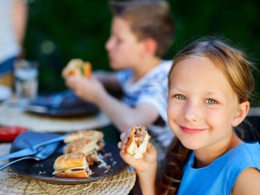 kids dining at a restaurant
