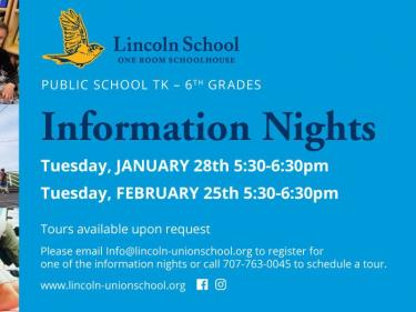 Lincoln School Information Nights