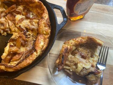 oven puffed apple pancake