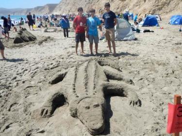 Point Reyes Sand Sculpture Contest Drakes Beach