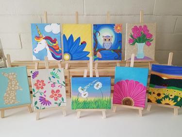 SplashKits DIY acrylic painting kits