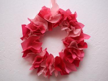 Valentine's Day Tissue Wreath