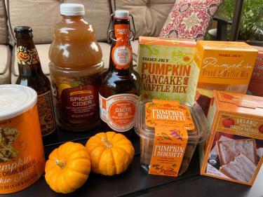Trader Joe's pumpkin stuff