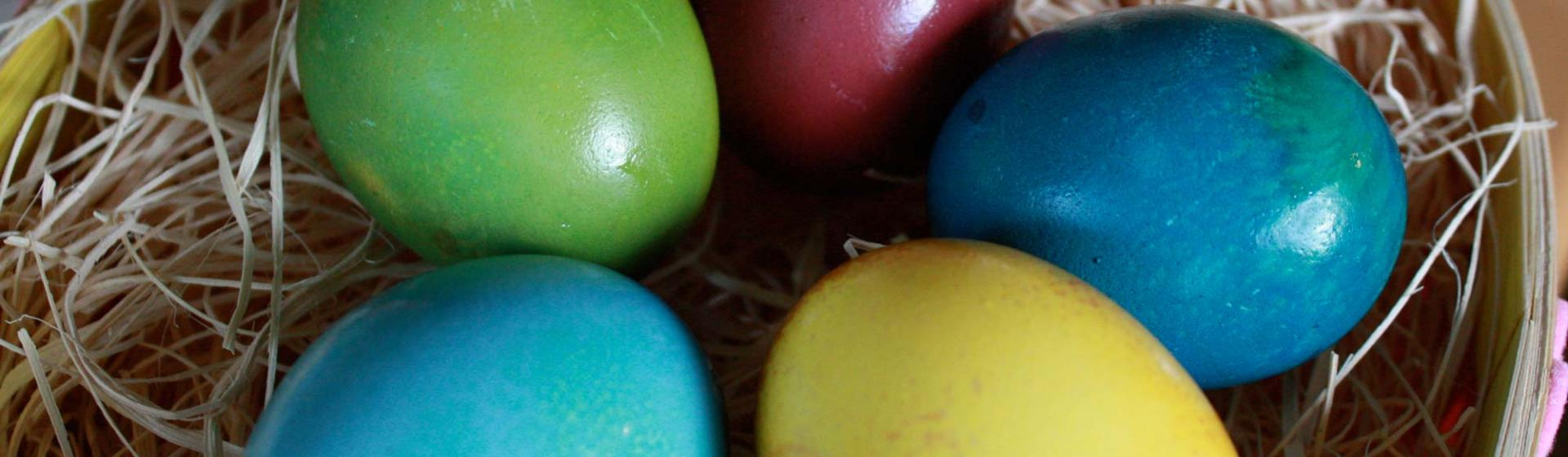 Homemade natural Easter egg dyes