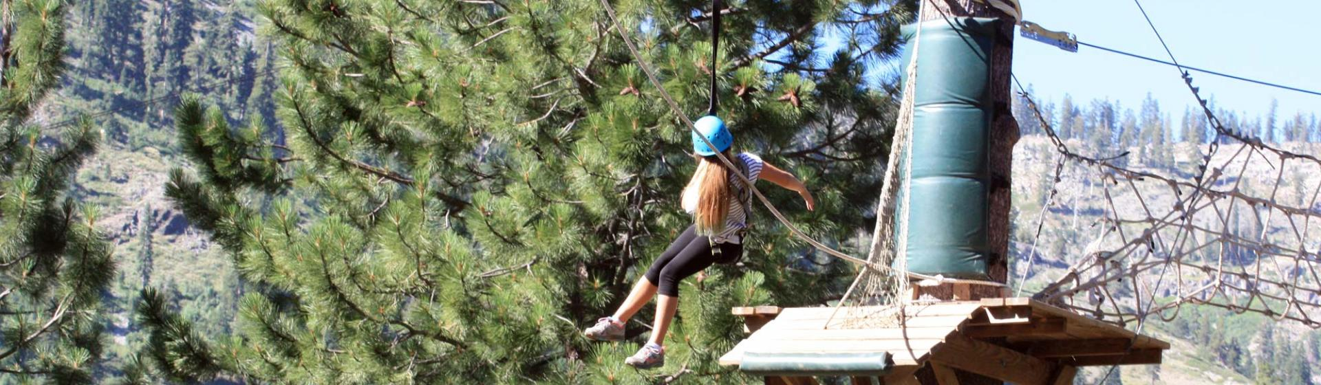 Tahoe treetop ropes course